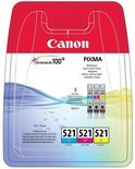 Canon CLI-521 Multipack Inktcartridges - Cyaan / Magenta / Geel