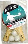 Sportx Tafeltennis Set 2Bats/3Bal