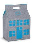 Childhome - Vilten Speelgoedzak 50x35x72 cm - Grijs en Turquoise