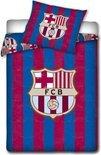 Dekbedovertrek FC Barcelona - Blauw/Paars - 1-persoons (140x200 cm + 1 sloop)