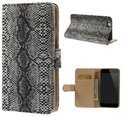 qMust Apple iPhone 6 Wallet Case met stand (Black Snake)