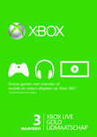 Microsoft Xbox Live Gold Abonnement 3 Maanden Xbox 360