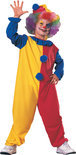 Clown hat and suit kids size: L