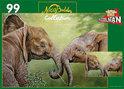 Nico Bulder Collection: Olifantjes - Legpuzzel - 99 Stukjes