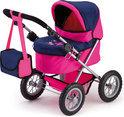 Poppenwagen Trendy - Roze/Paars