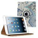 Ipad air 5 smart 360 graden hoes map case leer landkaart wereld