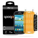 QooQoon silqShield™ Invisible Screenprotector voor Samsung Galaxy S3 Mini - Front met SmartApply