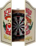 Longfield Compleet Dartkabinet inclusief Dartbord + Dartpijlen 18 Gr - Hout