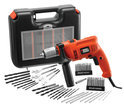 Black & Decker 500W klopboormachine met 50 stuks accessoires