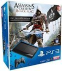 Sony PlayStation 3 Console 500GB Super Slim + 1 Wireless Dualshock 3 Controller + Assassins Creed 4: Black Flag + The Last Of Us - Zwart PS3 Bundel