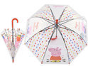 It's raining Peppa Big paraplu doorzichtig