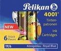 Pelikan inktvullingen INKTPATR K BLAUW 6X + MOTIEF