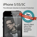 Screenprotector / Schermbescherming ECHT GEHARD GLAS (Tempered Glass) - iPhone 5/5S/5C