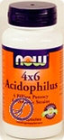 Now 4x6 Acidophilus Capsules 60 st