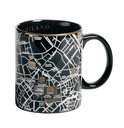 Seletti The World Dinnerwar - Maps Mok 'Milan' - Zwart