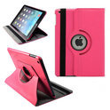 Apple iPad 5 Air Leather 360 Degree Rotating Case Cover Stand Sleep Wake Pink/Roze