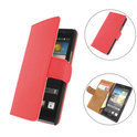 TCC Luxe Hoesje Huawei Ascend Y330 Book Case Flip Cover - Rood