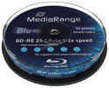 BLU-RAY DISC MEDIARANGE REWRITABLE 25GB 2X 10CAKEBOX