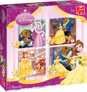 Jumbo Disney Beauty and the Beast 4 in 1 - Puzzel - 16 stukjes