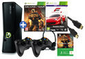 Xbox 360 Slim 250GB + 2 controllers + 2 games + 4 maanden Xbox Live Gold