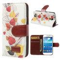 JavuCase - Samsung Galaxy S4 Mini - Wallet Case Hoesje Leaves