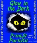 Children's Glow in the Dark Theme  Birthday Party Games and Printable Theme Party Kit (ebook)