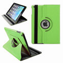 Apple iPad 5 Air Leather 360 Degree Rotating Case Cover Stand Sleep Wake Green/ Groen