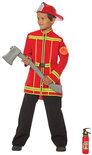 Brandweer jas - Kostuum - Maat 116 - Rood
