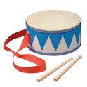 Houten trommel - blauw/wit