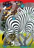 Tinga Tinga African Art Zebra - Puzzel - 1000 stukjes