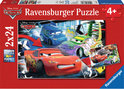 Disney Cars: Dolle race - Kinderpuzzel - 2x 24 Stukjes
