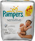 Pampers Sensitive - Doekjes Navulpak 6x56st