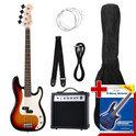 Rocktile Rocktile Groovers Pack PB Elektrische Bas Set (Sunburst), 6-delig
