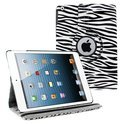 iPad Air 360 Rotatie Hoes, Cover, Case Zebra Design kleur Wit / Zwart