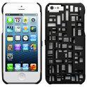 Freshfiber Hard Case met Kaarthouder Mondriaan voor Apple iPhone 5/5S Zwart