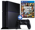 Sony PlayStation 4 Console 500GB + 1 Wireless Dualshock 4 Controller + Grand Theft Auto V - Zwart PS4 Bundel