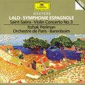 Lalo: Symphonie Espagnole;  Saint-Saens / Perlman, Barenboim
