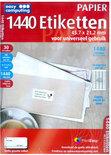 1440 Etiketten, 45.7 x 21.2 mm voor universeel gebruik (Papier)