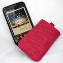 Samsung Galaxy Note rundlederen Indigo-Case - roze