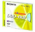 Sony DVD-RW 120min/4,7GB 2x speed 10 stuks in jewelcase
