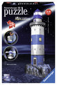 Ravensburger 3D Puzzel Vuurtoren Night Edition - 216 Stukjes