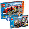 LEGO City Trein voordeelbundel: Passagierstrein 7938 + Spoorwegstation 7937