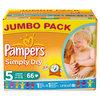 Pampers Simply Dry - Luiers Maat 5 Jumbo box 66 st.