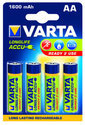 1x4 Varta Rechargeable Accu AA Ready2Use NiMH 1600 mAh Mignon