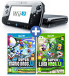 Nintendo Wii U 32GB Premium Bundel Zwart + New Super Mario Bros. U + New Super Luigi