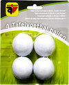 Tafelvoetbalballetjes 4 stuks flocked wit