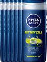 NIVEA MEN Energy - 250 ml - Douchegel - 6 st - Voordeelverpakking