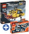 LEGO Technic bundel: Helikopter 9396 + Power functies set 8293