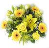 Boeket van gele verse bloemen