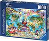 Ravensburger Puzzel - Disney's Wereldkaart